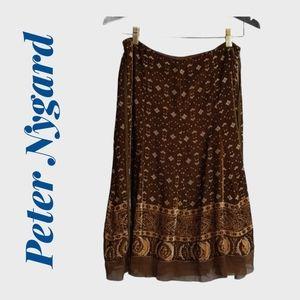 Peter Nygard Burnt Velvet Skirt Size 8